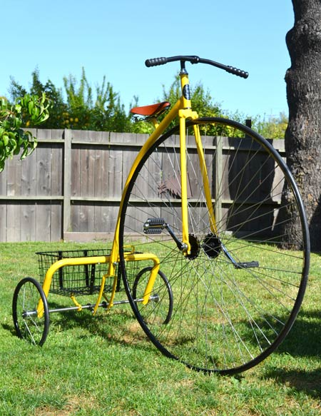 Antique Replicas Hiwheel Trike Rideable Bicycle Replicas
