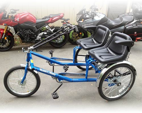 Tricycles - Side-by-Side Team Dual Trike - Rideable Bicycle Replicas